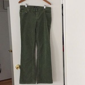 Green beautiful corduroy. Stretchy material .